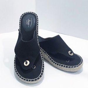 G. H. Bass Wedge Sandals. Size 6.